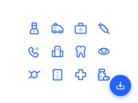 Free icon pack - 24 Medical Icons
