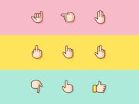 Free icon set: 14 Gestures Icons