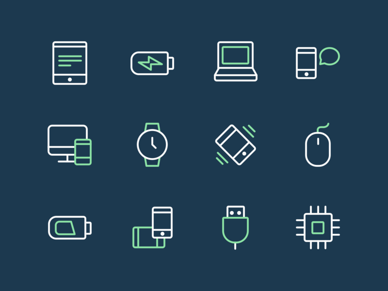 24 Free Tech And Devices Icons free icon download free icon set free icons free vectors free download usb outline monitor laptop watch mouse tablet phone tech icon set pack icon icons freebie