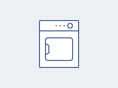 Dryer machine - custom icon design