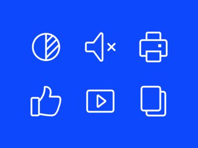 Outline icons for an eCommerce brand
