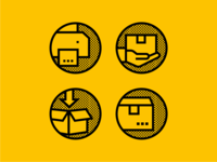eCommerce Returns Process — Custom Icon Design