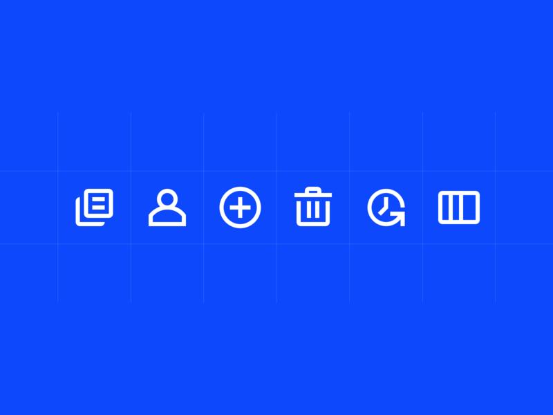 Automattic — UI Iconography enterprise application enterprise outline icons icons ui icons app icons line icons icon set iconography icon design automattic simplenote custom icon design graphic design