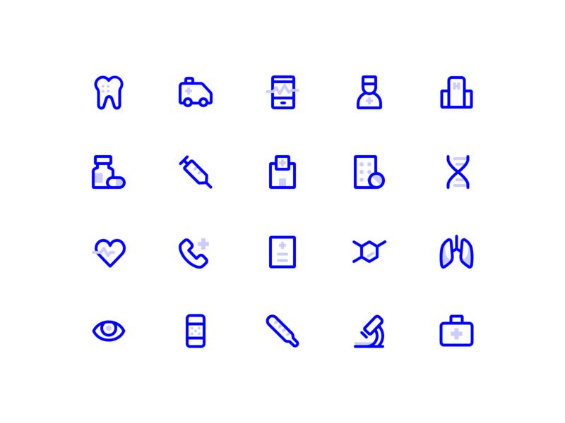 Free icons - Medical icon set