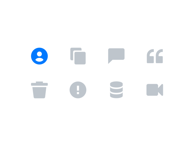 User Interface Icons by Xicons Studio alert user video trashcan copy quote chat user interface system icon design application software ui  ux premium ui icons icon pack glyph icons filled icons icon set