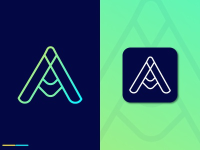A Modern Letter Logo Design text logo typography letter logo letter design logo illustration creative smrity6032 minimal logo logo design gradient logo modern logo branding