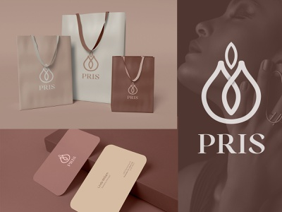 """Pris"" Fashion Brandmark Logo Design graphic design clean simple brandmark symbol fashion logo illustration design creative smrity6032 minimal logo logo design gradient logo modern logo branding"