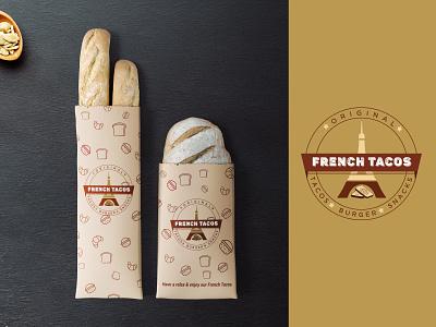 French Tacos - Logo Design fastfood packaging bread food tacos french logo illustration design creative smrity6032 minimal logo logo design gradient logo modern logo branding
