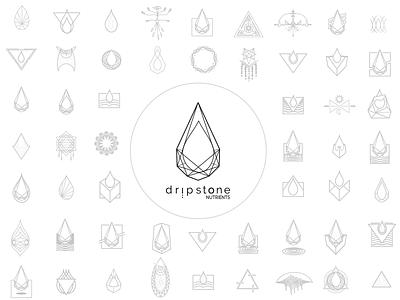 Dripstone logo design branding logo