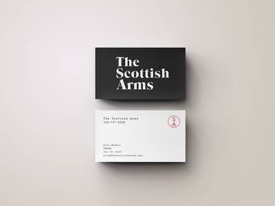 The Scottish Arms business card indentity logo