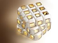 Multibox (Rubiks Cube, concept for a website builder)