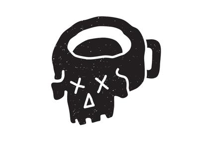 Skull Beer Mug mug logo craft beer cup grunge white black illustration skull