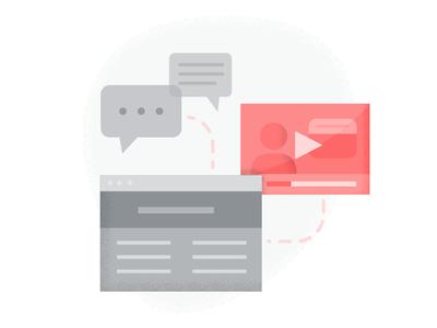Content Marketing data media grunge marketing content illustration process