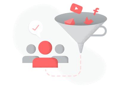 Inbound Marketing filter illustration social content marketing grunge