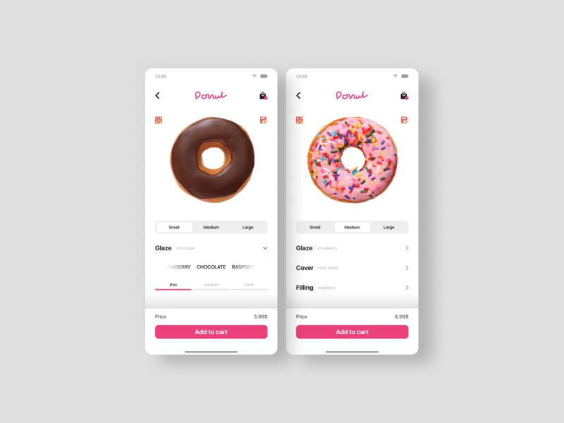 E-Commerce Shop / Donut app design ux uiux