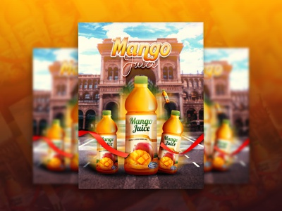 Mango Juice Social Media - Ads Design - Summer Juice socialmedia