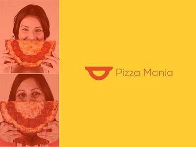 Pizza Mania Restaurant Logo smile logo restaurant branding restaurant logo restaurant mania smile mania logo pizza mania pizza logo pizza smile design logodesign logo