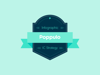 Poppulo IC Strategy Infographic branding layout graphic strategy campaign internal communications poppulo infographic badge design brand