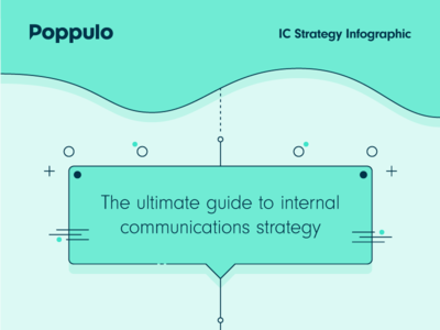 Poppulo IC Strategy Infographic - Sneak Peek creative director internal communications strategy brand branding poppulo illustration design graphic infographic