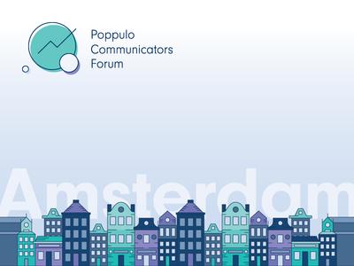 Amsterdam Skyline, Poppulo Communicators Forum