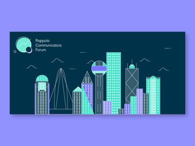 Dallas Skyline - Event Illustration