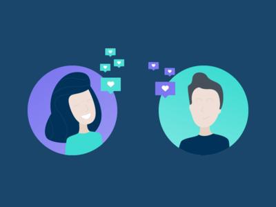 Social Media – Post Likes Illustration