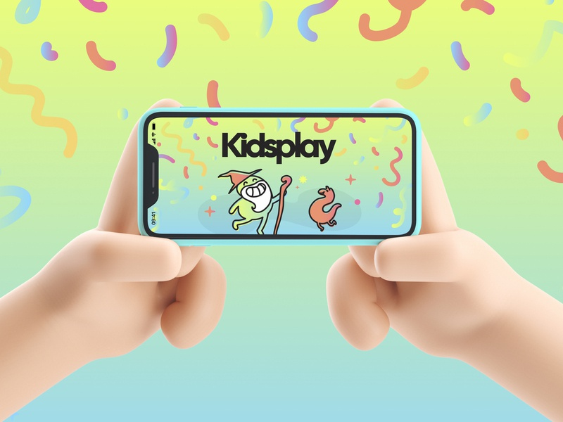 kidsplay visual branding kids gaming app gaming app kids app gaming kids ui  ux mobile app design mobile app mobile ui digital illustration typography logo app ux illustration branding design branding concept branding and identity branding ui