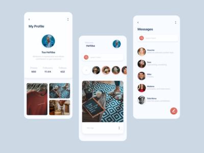 UI design for a Social App