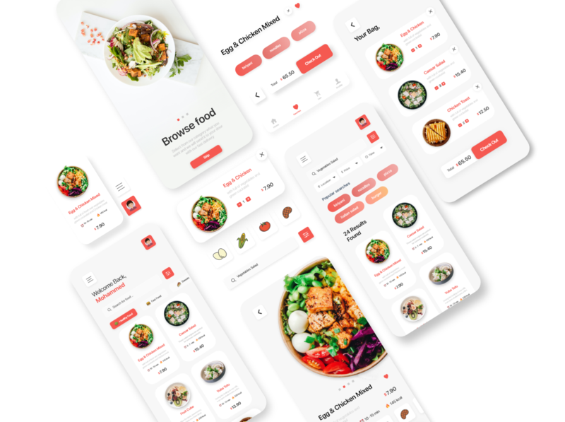 iOS App Design for Food Delivery System hello dribbble dribbble recipes store picker grocery food colors ios app ui app design uxdesign ux uiux uidesign design