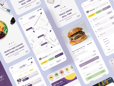 Delivery Mobile App UI cart shopping onboarding map vendor store delivery uxui creative ios app dribbble uxdesign uiux ui ux uidesign design