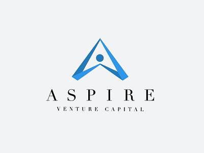 Aspire Venture Capital  negative space graphic design branding logo