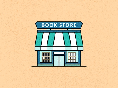 Blue Book Store Illustration symbol cartoon landing page style wallpaper colorful outline art inspire color graphic trend object sign vector isolated icon flat illustration design