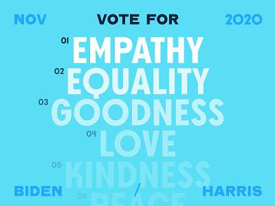Vote. election presidential election typography vote2020 voter biden empathy president vote