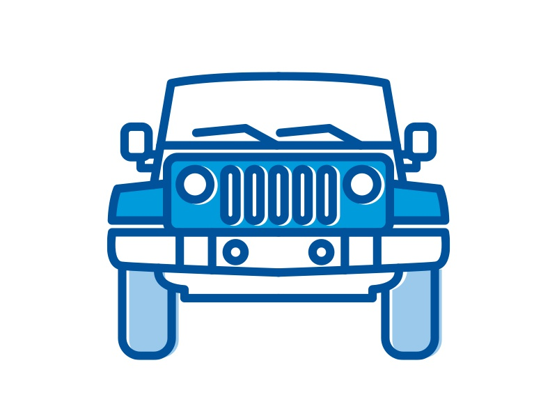 jeep icon by josh maynard dribbble