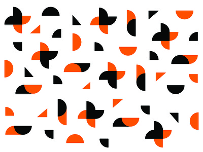 JAA Pattern random icon explosion light flare orange pattern