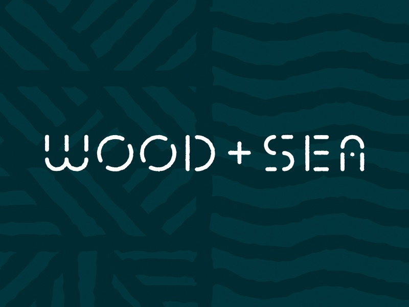WSCO Branding pattern handmade typography custom type wsco waves identity sea wood branding logo