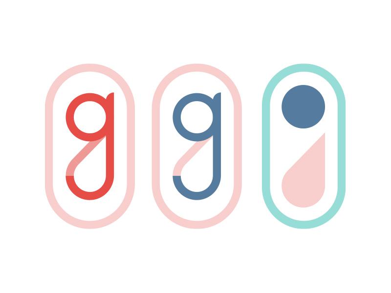 G Icons custom type simple shapes g logo monogram icon
