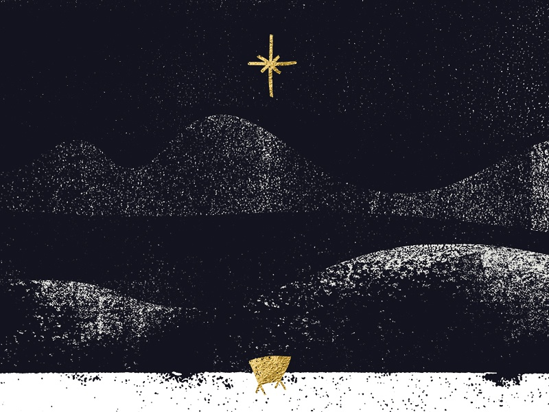 The Arrival arrival savior christ message gold leaf texture manger star christmas church series series design church
