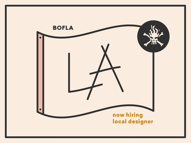 Now Hiring a Designer at BOF LA! icons la crossbones skull illustration map flag icon jobs hire jobopening agency designer los angeles hiring job