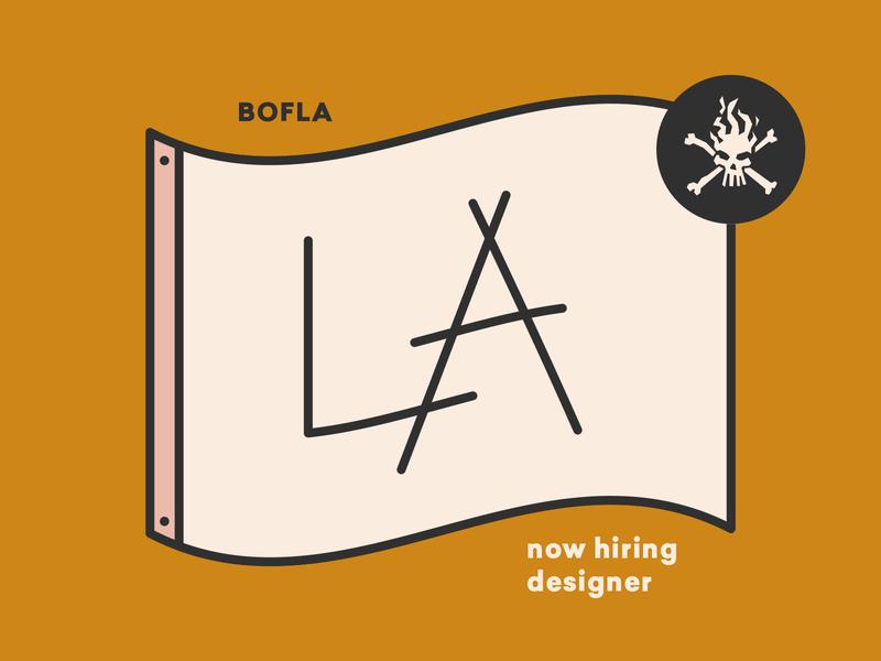 Now Hiring a Designer at BOF LA! california skull icons icon flag jobopening agency los ange designer hiring hire jobs job