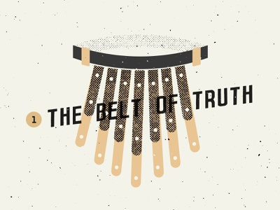 The Belt of Truth church design sermon art bible sermon jesus christian truth texture series church icons illustration icon