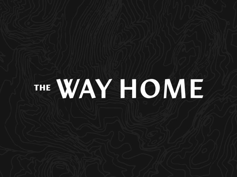 The Way Home - Logo topographical restaurant hotel design topo topography identity branding logo icon