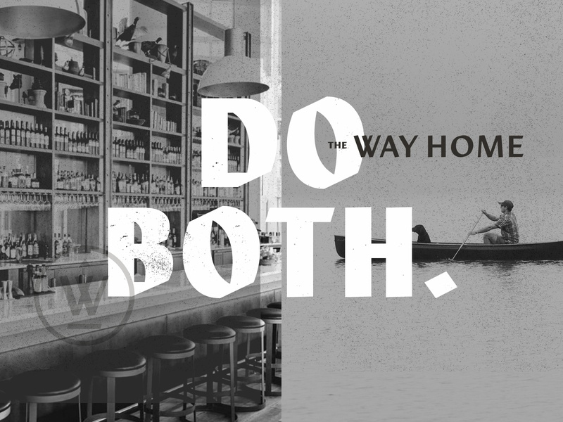 The Way Home - Do Both logo texture badge hotel restaurant identity design branding typography icon