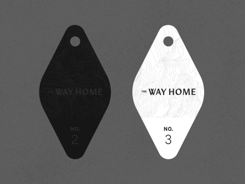 The Way Home - Keychain key tag identity branding hotel branding restaurant hotel keychain design texture logo illustration