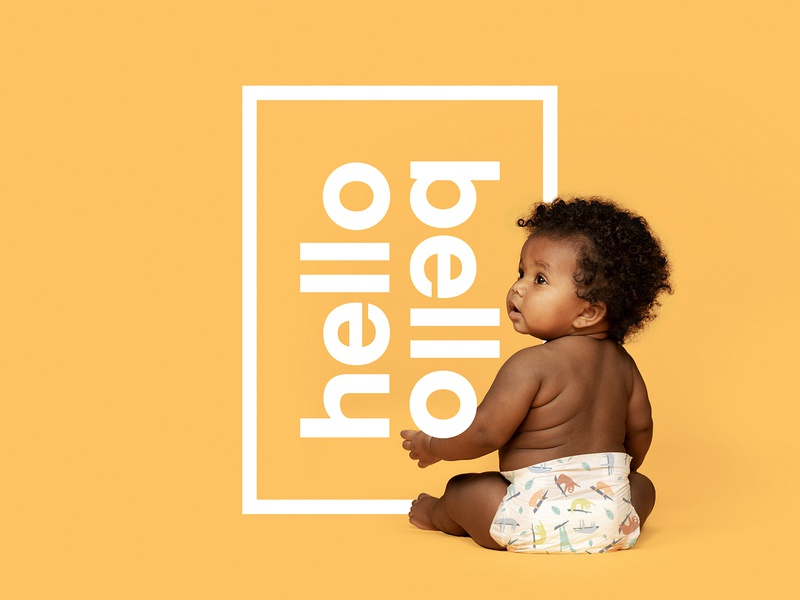 Hello Bello is here! baby logo identity branding
