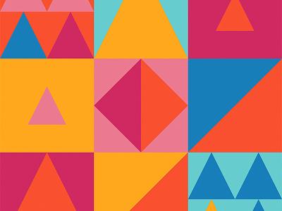 Geometrics square triangle shape color illustration icon geometric