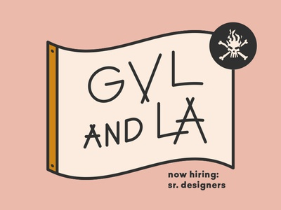 Senior Designers Wanted! hiring jobs job application brainsonfire typography badge illustration design icon southcarolina greenville california losangeles senior designer job wanted