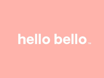 hello bello wordmark typography brand baby design identity logo wordmark