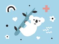 Hello Bello ♥️s Australia icon illo flowers love icons rainbow australia koala redress design vector illustration