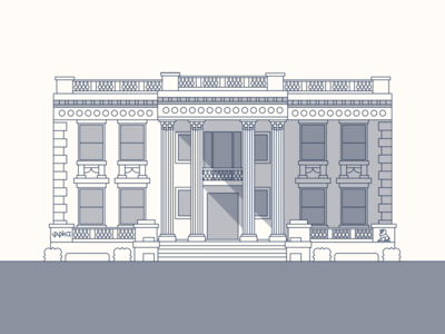 Scott House at VCU vector art vcu line art illustration